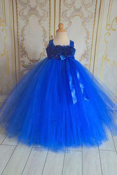 Horizon Royal blue chiffon Hydrangea by TutuSweetBoutiqueINC