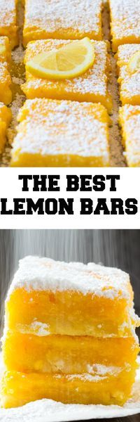 These are the Best Lemon Bars ever because they're full of delicious lemon flavor, and are also super easy to make!
