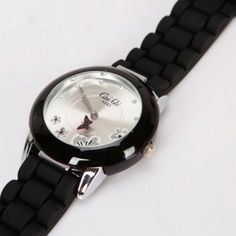 Silicone Quartz  Watch Black  If you are looking for a cool and stylish black wrist watch, then you came to the right place. This strong and durable wrist watch made of high quality material features a specially designed watch band that's very attractive and comfortable to wear.