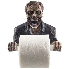 Amazon.com - The Undead Graveyard Zombie Decorative Toilet Paper Holder in Scary Halloween Decorations As Bathroom Wall Decor Art & Plaques or Spooky Home Bath Decorating Accessories for Whimsical Novelty Gifts -