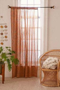 Or, colorful curtains for front window?