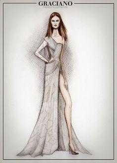 Atelier @Official Versace S/S 2014 #PFW #HAUTECOUTURE #VERSACE - GRACIANOfashionillustration