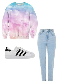 """""""Untitled #10"""" by alaninaissant on Polyvore featuring Topshop and adidas"""