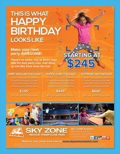 Sky zone birthday party coupons