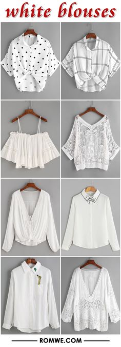 white blouses 2017 - romwe.com