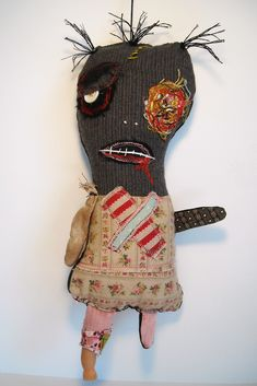 Zombie Sally | This one is at Side Street Gallery in Portlan… | JunkerJane a.k.a Catherine Zacchino | Flickr
