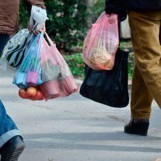 This is the Easiest Way to Recycle Plastic Bags Plastic Jugs, Small Plastic Bags, Recycled Plastic Bags, Plastic Grocery Bags, Garage Door Spring Replacement, Newspaper Bags, Overhead Garage Door, Garage Doors, Alternative To Plastic Bags