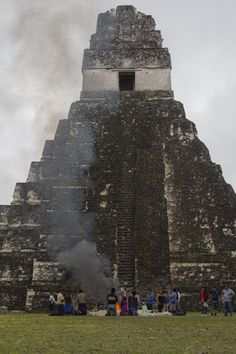 We bore witness to an offering ceremony upon our visit to Tikal, Guatemala.  Read this on: http://www.hecktictravels.com/mayan-ceremony