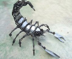 Scorpion Insect Heavy Metal Gears Sculpture by VonChandler on Etsy, $1250.00