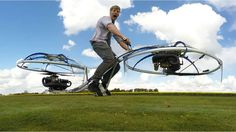 Internet sensation Colin Furze has used home tools and a workshed to create a working hoverbike. Watch it in action in this video.