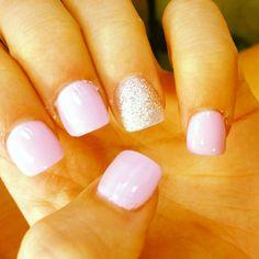 Cute girls acrylic nails.