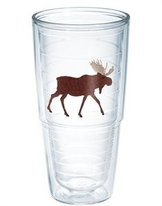 Tervis Moose Tumbler, 24 oz, Clear: Each tumbler features double-wall insulation that keeps hot drinks hot and cold drinks cold. Tervis has been proudly made in America since 1946 and features a Made for Life guarantee.