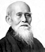 O sensei, el fundador del aikido...