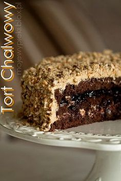 Tort chałwowy by paulette Polish Desserts, Cookie Desserts, Bakery Recipes, Dessert Recipes, Cake Receipe, Easy Cake Decorating, Pudding Cake, Pastry Cake, Food Cakes