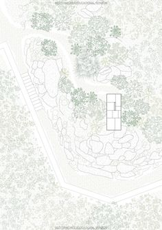 Gallery of The Fortified Cavern / Clara Copiglia + Benjamin Lagarde + Tim Cousin - 19 - The Fortified Cavern,Site Plan - Coupes Architecture, Architecture Site Plan, Architecture Graphics, Architecture Drawings, Landscape Architecture, Architecture Diagrams, Architecture Portfolio, Rendering Architecture, Masterplan Architecture
