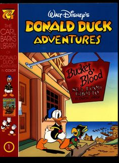 Walt Disney's Donald Duck Adventures The CARL BARKS Library of Donald Duck Adventures in Color #1 NM With Card Disney Duck, Walt Disney, Vintage Ephemera, Vintage Books, Donald Duck Comic, Gladstone, Character Names, Cartoon Movies, Comic Covers