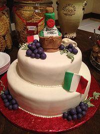 Tiered Cake w/ Fondant Cover & Gum Paste Deco - Italian theme