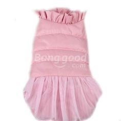Lace-Edged Collar Veil Gown Cotton Waistcoat Pet Dog Jacket Vest