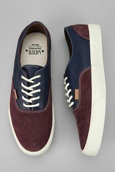 betterthreads:  Navy Blue and purple suede vans