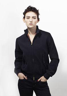 Baracuta Womens Melton Original Harrington Jacket in Navy 26a74879b1