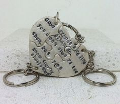 Puzzle Pieces Best Friend Key chains Good by GirlwithaFrogTattoo, $60.00