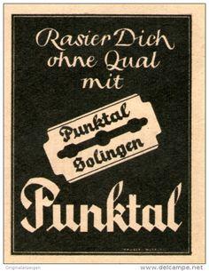 Original-Werbung/Inserat/ Anzeige 1949 - PUNKTAL RASIERKLINGEN - ca. 70 x 50 mm
