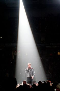 Lead singer Gary LeVox of Rascal Flatts performs under the lights during the band's concert in Greenville, S.C., on Jan. 22, 2009.