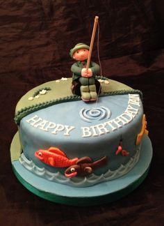 Fishing Cake - Cake by Caron Eveleigh Fishing Cakes, Fish Cake Birthday, Sparkle Cake, Deer Cakes, Retirement Cakes, Easy Cake Decorating, Pastry And Bakery, Novelty Cakes, Shower Cakes