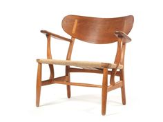 Easy Chair (oak, laminated oak and Danish papercord) designed by Hans Wegner, made by Carl Hansen & Son, 1950