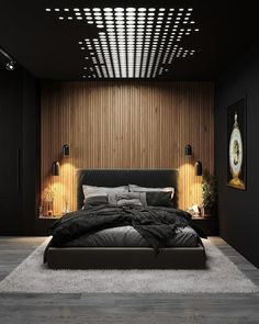 Luxury Small Bedroom Design And Decorating For Comfortable Sleep Ideas « Black Bedroom Design, Master Bedroom Interior, Room Design Bedroom, Home Room Design, Dream Bedroom, Home Bedroom, Home Interior Design, Bedroom Ideas, Bedroom Black