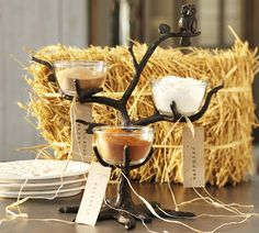Owl Tree Condiment Set   Pottery Barn... would be cute for holding candy.