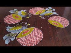 Easy Rangoli Designs Videos, Rangoli Designs Simple Diwali, Free Hand Rangoli Design, Rangoli Border Designs, Rangoli Designs With Dots, Rangoli With Dots, Beautiful Rangoli Designs, Kolam Designs, Henna Designs