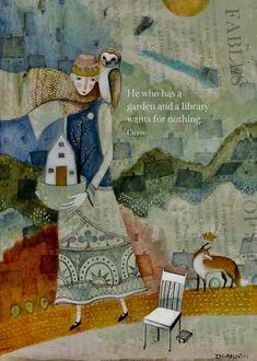 The beautiful paintings and illustrations of Pamela Zagarenski winner of several awards for the illustration of children's book. Art And Illustration, Book Illustrations, Oeuvre D'art, Childrens Books, Greeting Cards, Art Prints, Artwork, Etsy, Wisdom