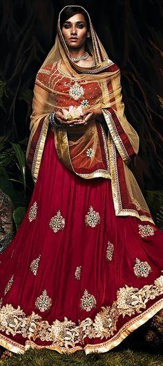 156933: BRIDAL WEAR - new designer #lehenga collection.   #OnlineShopping #WeddingCouture #IndianFashion #IndianWedding #oxblood #sale #Bridetobe #Partywear