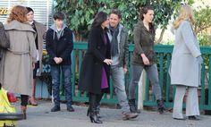 Rebecca Mader, Ginnfer Goodwin, Jared Gilmore, Lana Parrilla, Sean Maguire, Agnes Bruckner & Kristin Bauer on set - March 3, 2015