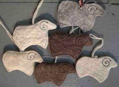 Sheep Felt Ornaments - Bellacouche