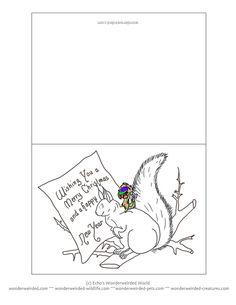 Free Printable Funny Christmas Cards Cartoon Animals , Original ...