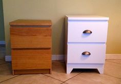 Michelle - Blog #Malm #Nightstand Fonte : http://www.instructables.com/id/Ikea-Malm-Nightstand/