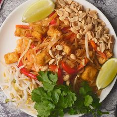 The most delicious vegan pad thai. Veggies tofu and rice noodles come together with a fabulous authentically flavored sauce. Better than a restaurant. Vegan Meal Prep, Vegan Dinner Recipes, Delicious Vegan Recipes, Vegetarian Recipes, Vegan Recipes Plant Based, Veggie Recipes, Asian Recipes, Thai Recipes, Vegan Foods