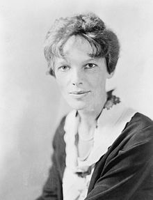 Amelia Earhart - 1st woman to receive the US Distinguished Flying Cross, multiple aviation record-holder, 1st aviatrix to fly solo across the Atlantic/one of my favr/snok