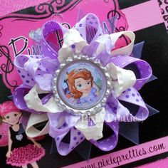 Sofia The First Loopy Flower Hair Bow
