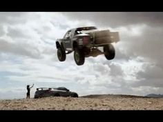 Offroad racer Ballistic BJ Baldwin gets the dirt flying in his Monter Energy 850HP Trophy Truck