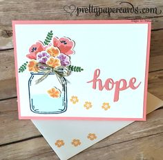 Stampin' Up! Jar of Love; Sunshine Wishes Thinlits Dies; prettypapercards.com