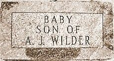 The gravestone of the baby that Laura and Almanzo Wilder lost at age 3 weeks.