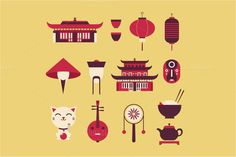 Vector china icons - Graphics
