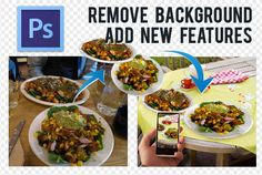 remove old and add new background Up to 10 photos by spica260