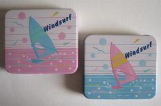 Vintage 1980s Windsurf tins by Citation, Japan.