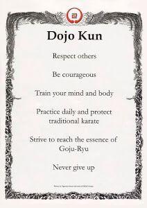 IOGKF Dojo Kun Morio Higaonna