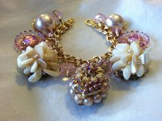 Repurposed Vintage Jewelry Charm Bracelet Charm by TracyJstyle, $50.00