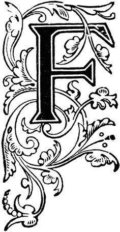 Floral Capital F | ClipArt ETC